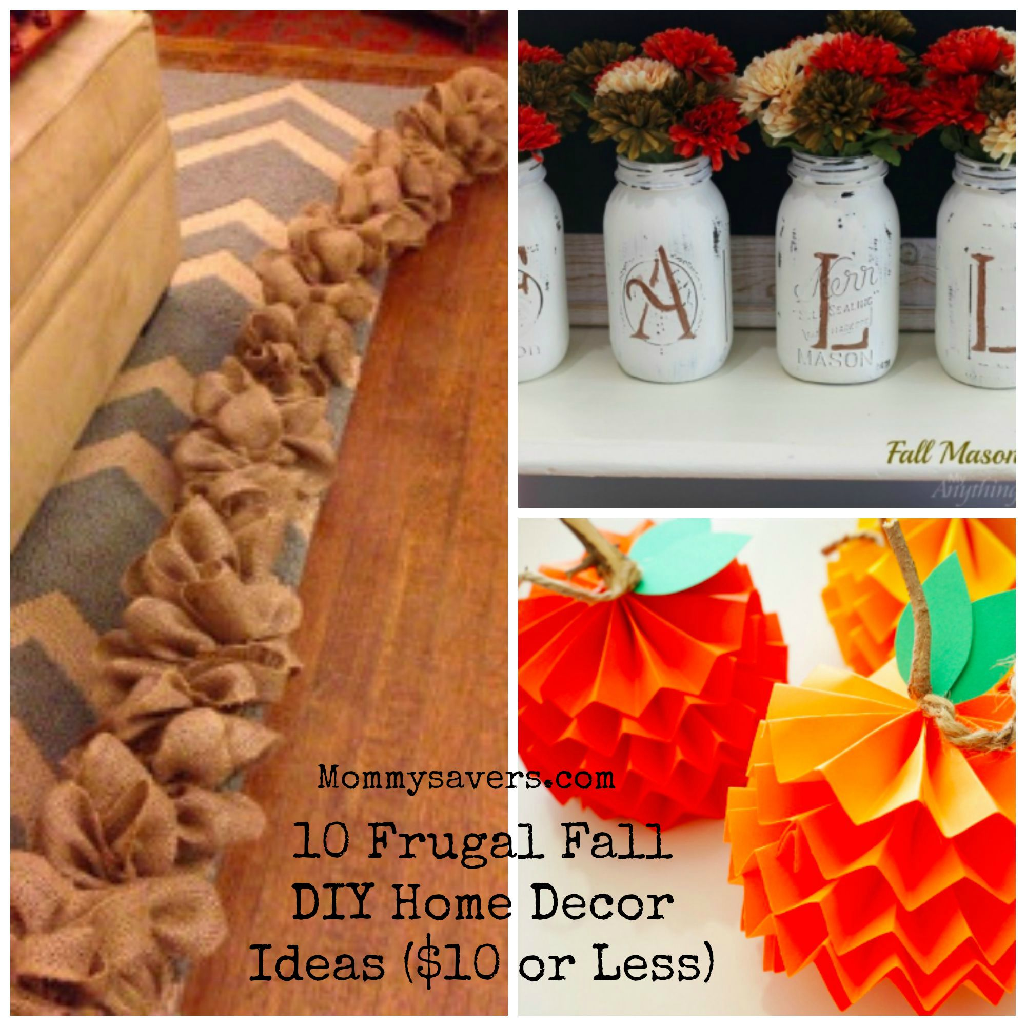 10 Frugal Fall DIY Home Decor Ideas 10 Or Less Mommysavers