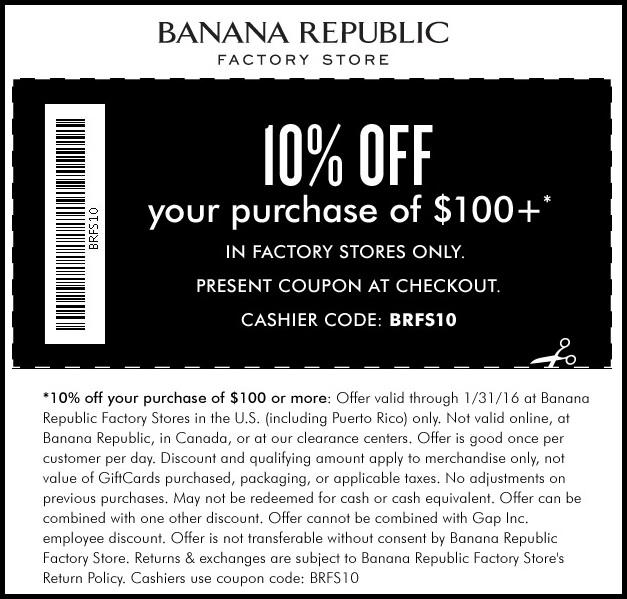 banana republic coupons in