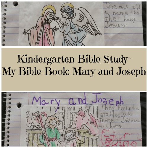 Kindergarten Bible Study- My Bible Book: Mary And Joseph