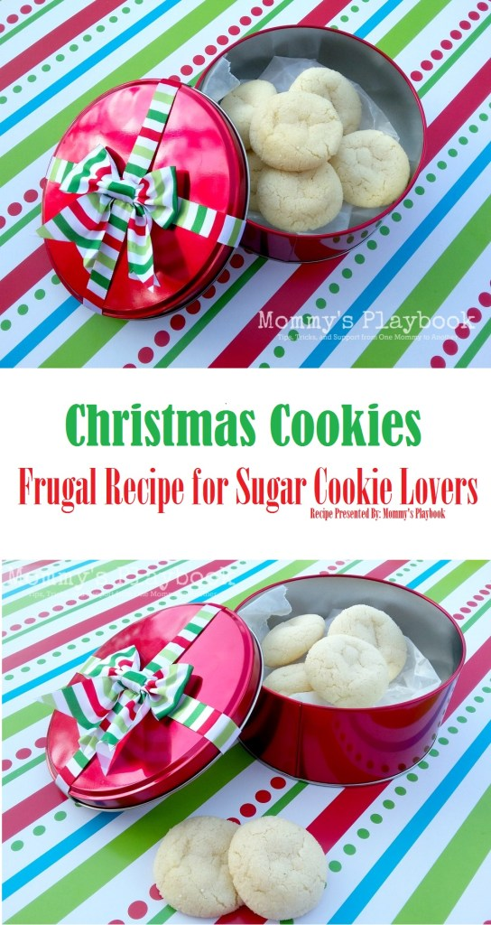 The Best Sugar Cookie EVER made with NO Butter! This Frugal Recipe for Sugar Cookies is a Great Cookie to Give as a Food Gift!