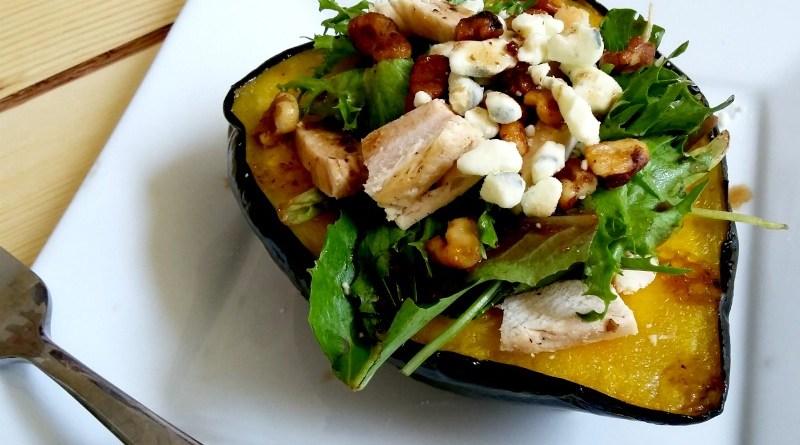 Chicken Salad Stuffed Acorn Squash