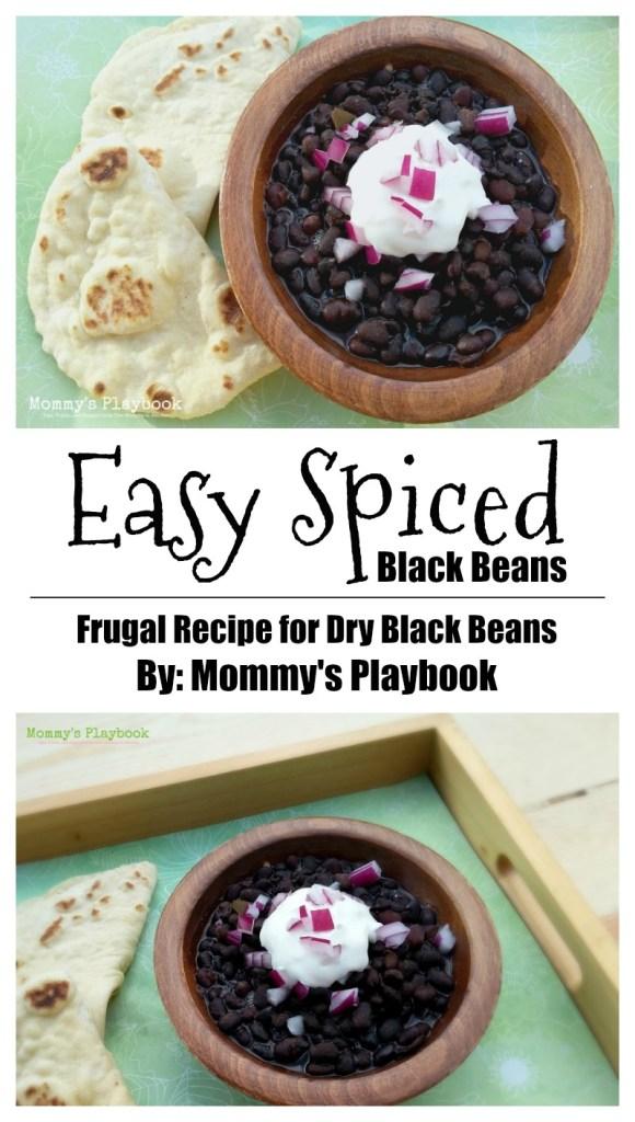 Easy Spiced Dry Black Beans