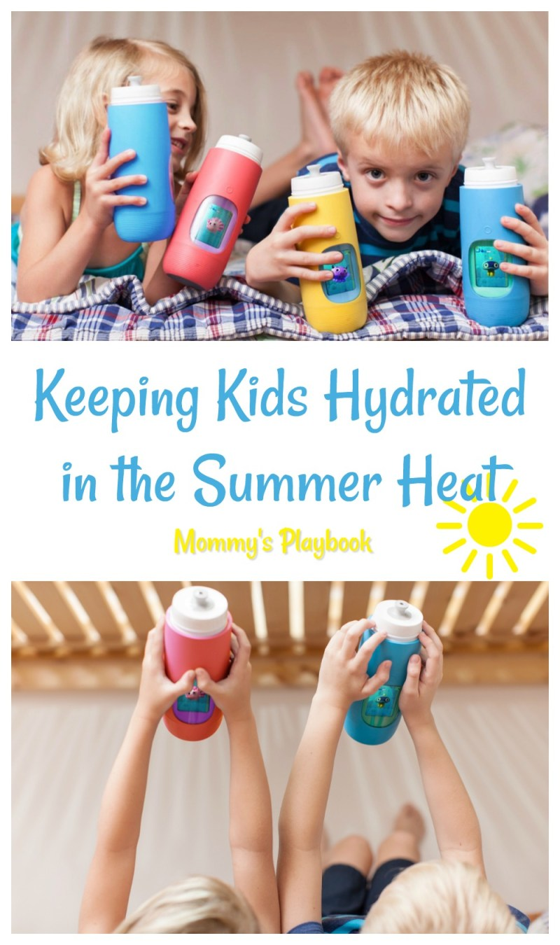 How to Keep Your Kids Hydrated in the Summer Heat with Gululu Interactive Water Bottle for Kids #ad