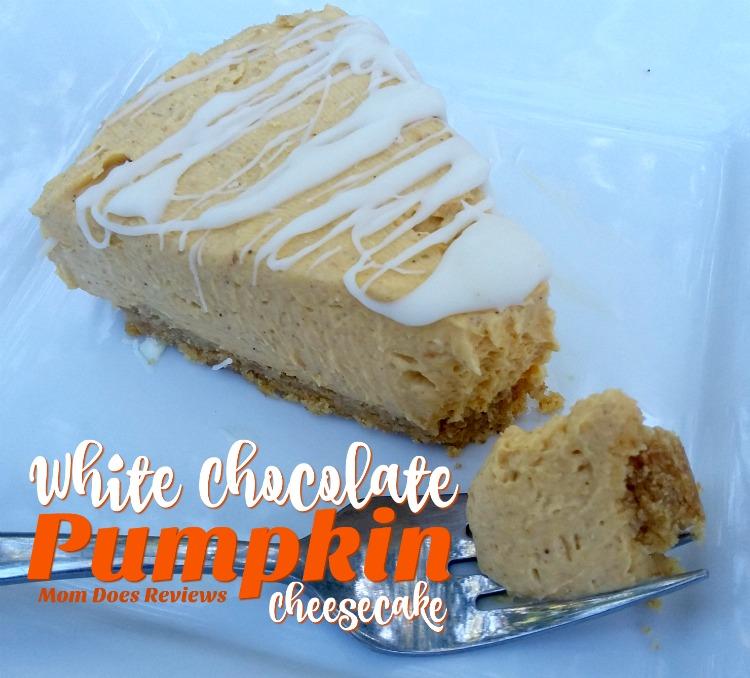 White Chocolate Pumpkin Cheesecake #NoBakeCheesecake #ChristmasSweets #Cheesecake #pumpkin