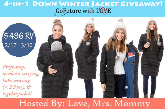 GoFuture With Love 4-in-1 Down Winter Jacket! A $496 RV!