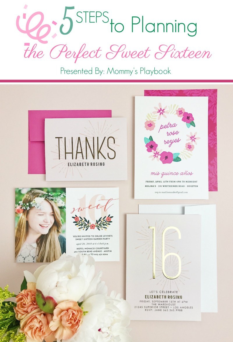 Sweet Sixteen Birthday Party Invitations and Thank You Cards from Basic Invite