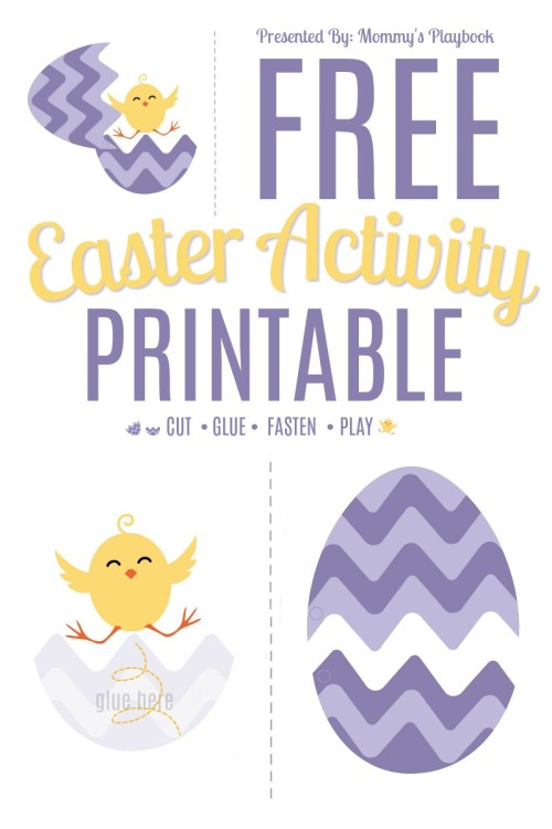Free Chick-N-Egg Printable Easter Activity #CutandPaste #EasterEgg #EasterPrintables