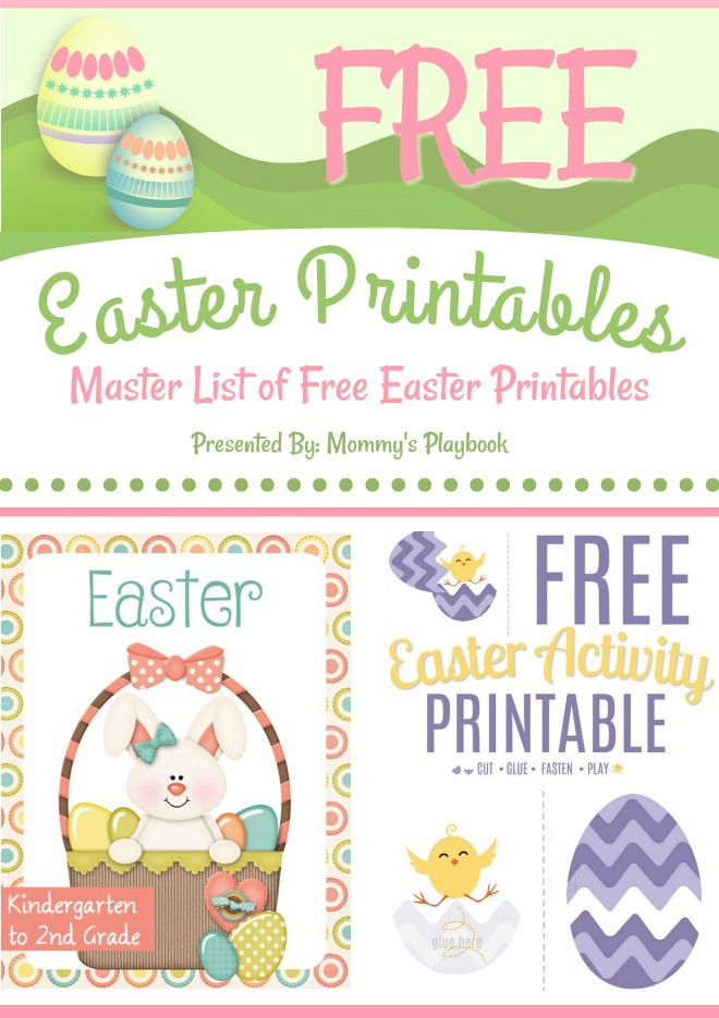 Free Easter Printables! Master List of 25+ Freebies #Homeschool #FreePrintables #Freebie #PrintablePages #Preschool #Easter