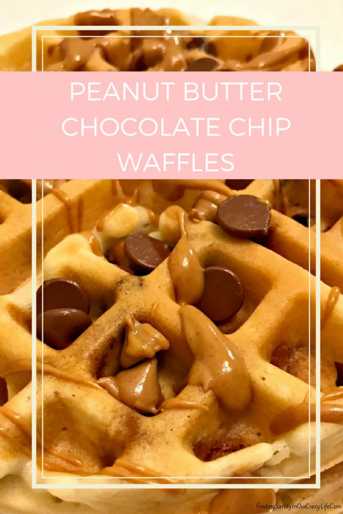 Peanut Butter Chocolate Chip Waffle