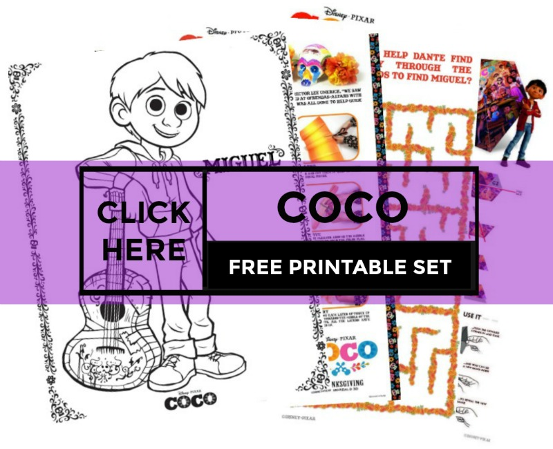 FREE Disney Pixar Coco Printables