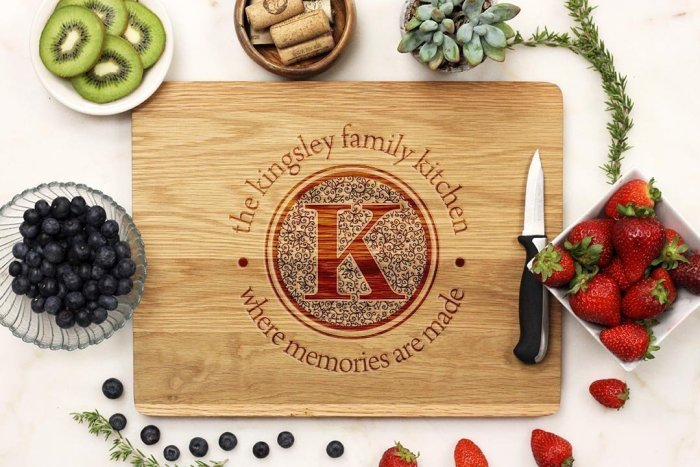 Personalized Cutting Boards, the Perfect Gift for Mom for any occasion