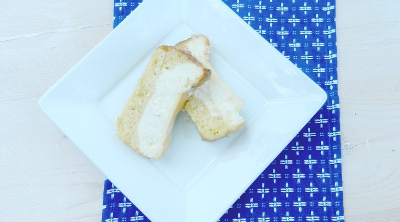 Cheesecake Stuffed Pina Colada Quick Bread Recipe #QuickBread #Cheesecake