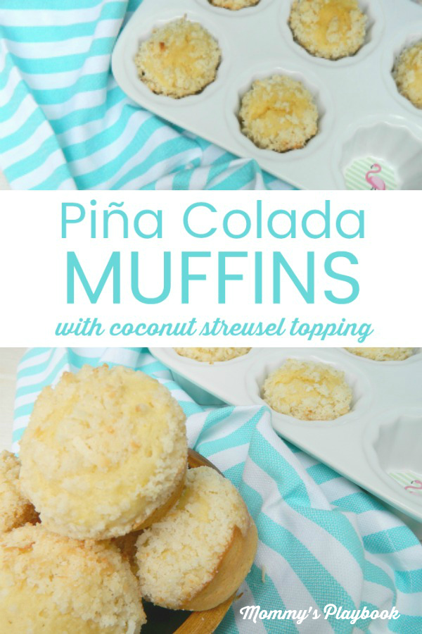 Best Pina Colada Muffins with Coconut Streusel Recipe #Muffins #QuickMuffins #Streusel