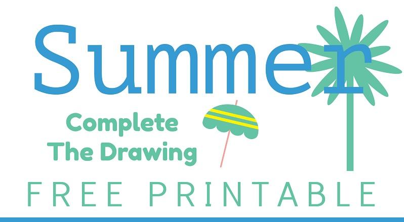 FREE PRINTABLE: Summer Complete the Drawing Worksheet