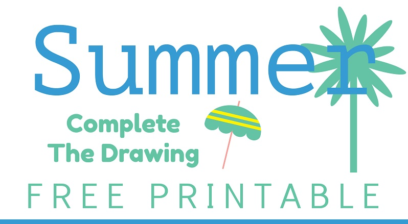 Summer Complete the Drawing Worksheet
