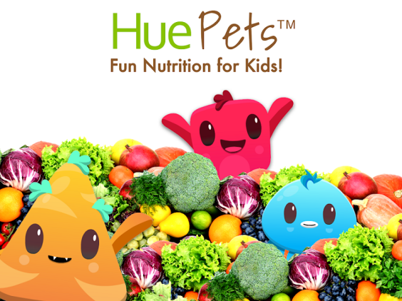 Free App for Kids that teaches nutrition and how to eat healthy foods! Feed Huey colorful fruits and vegetables and earn rewards!