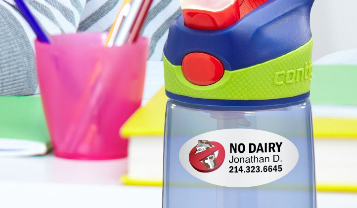 Label it, Don't Lose it! Whether it's name labels or water bottle labels, your kids will love getting stickered with StickerYou! Personalizable and waterproof, StickerYou labels will last forever on your child's favourite things, but won't leave a sticky residue when it's time for a change. #StickerYou #kidsLabels