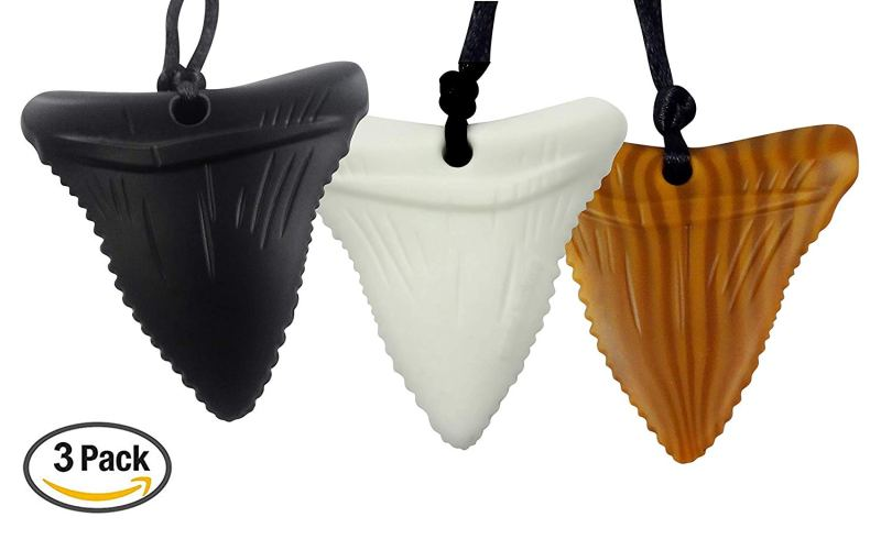 NEW Three Pack Shark Tooth Teething Necklaces! Food grade BPA Free Silicone! #Teething #Baby #SensoryProcessingDisorder