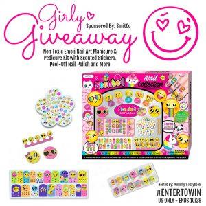 SmitCo Nail Art Giveaway Event #GiftsforGirls #GirlyGiveaway #EntertoWin