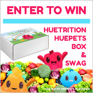 One lucky reader will win a Swag Filled HueTrition HuePets Box!