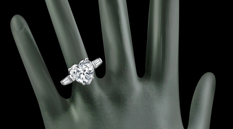 Heart Simulated Diamond Ring #DiamondVeneer