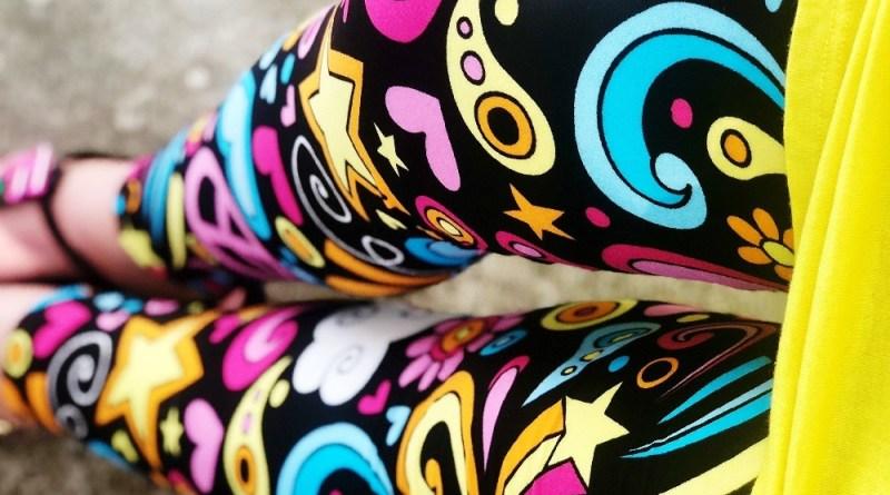 Peace Love Rainbows Leggings from DreamLeggings.com #BuyAlltheLeggings #DreamLeggings