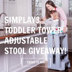 Simplay3 Toddler Tower Adjustable Stool #simplay3 #Americanmade #Veteranowned #toysthatlast #simpleplay