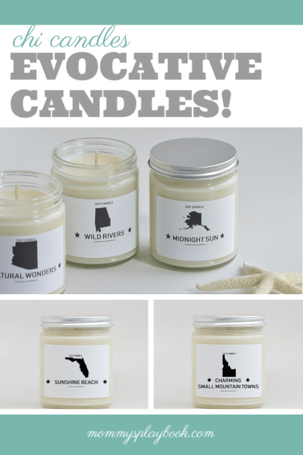 Chi Candle's Evocative Candle Collection is based upon each state's tree, flower, or fruit! #ChiCandle #SummerTravel #StateCandles