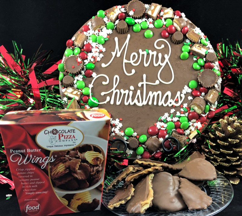 Snowflake Chocolate Pizza | delicious holiday gift idea