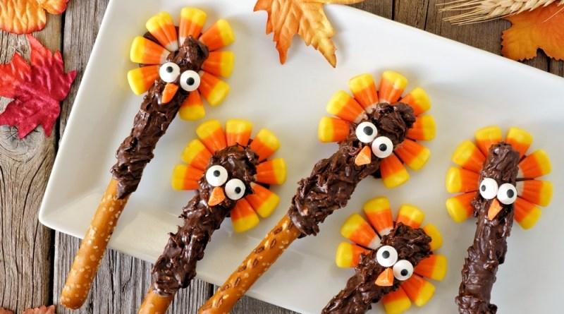Chocolate Turkey Pretzel Rods