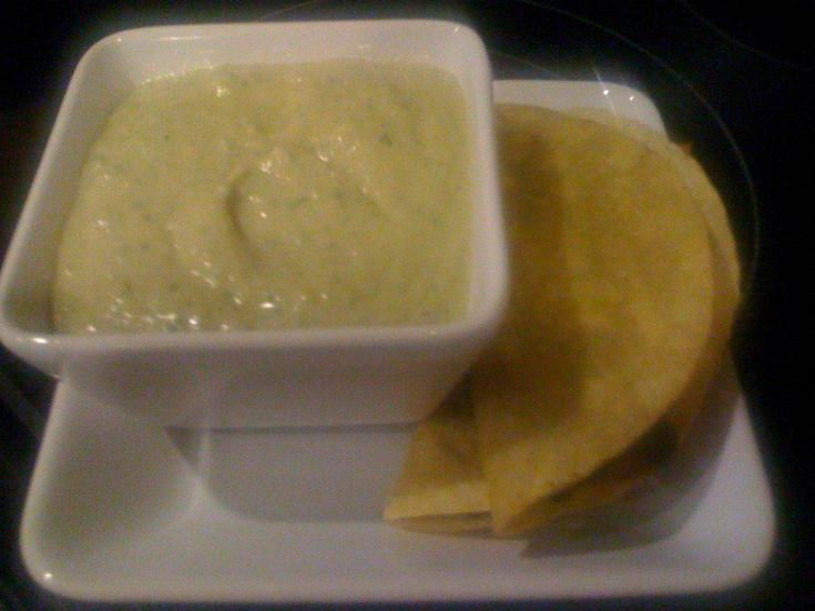 Spicy green dip