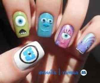 Monster's Inc Nails