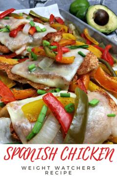 Spanish chicken weight watchers recipe
