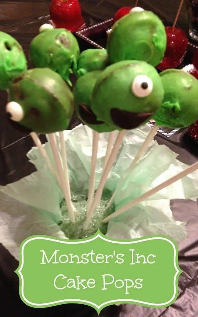 Monster's inc cake pops
