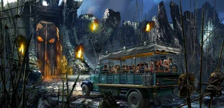 Skull Island - king kong ride
