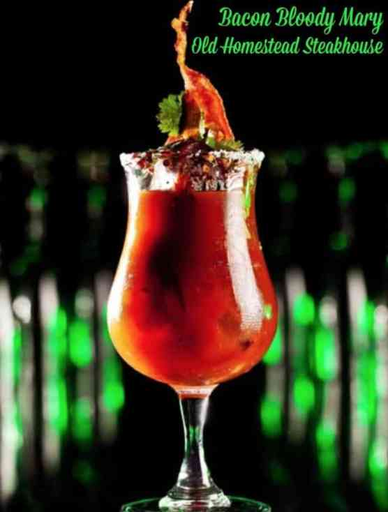 Bacon Bloody Mary at Old Homestead Steakhouse