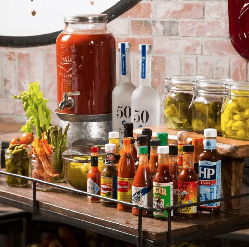 Hearthstone Kitchen + Cellar Bloody Mary Cart