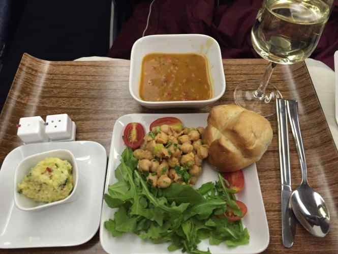 food in Delta Business class