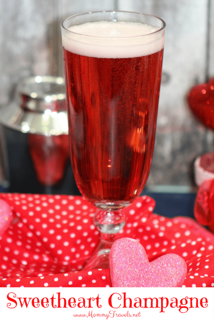 champagne cocktail perfect for Valentine's Day