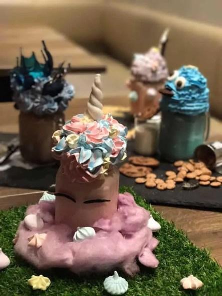 A unicorn milkshake at Benjamin Browns