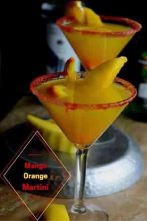 Mango and orange martini