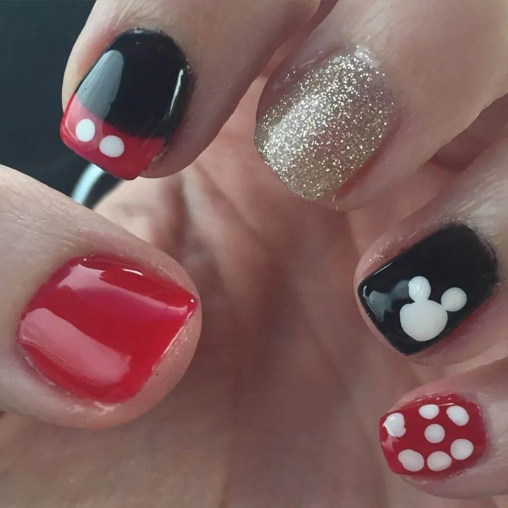 Mickey Mouse Nails: Disney Nail Tutorial