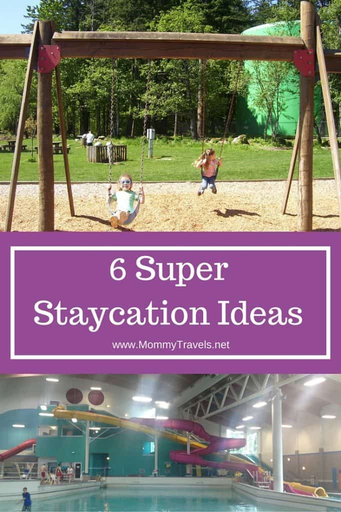 Check out these 6 Super Staycation Ideas for enjoying family time without spending a ton of money going out of town on vacation!