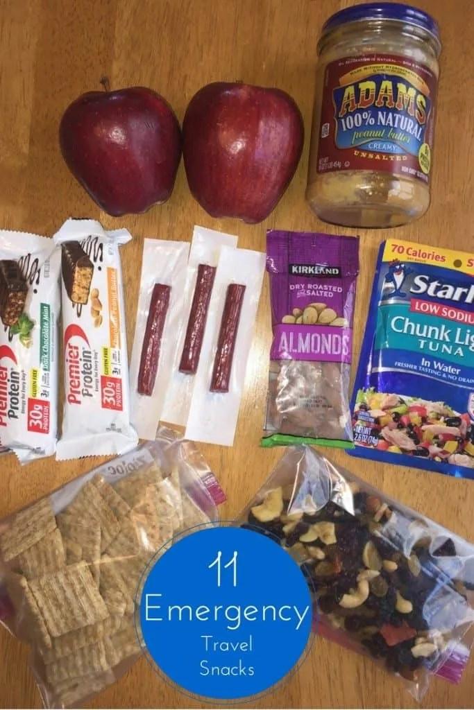 Emergency Travel snacks