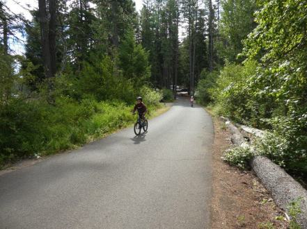 biking at Suttle Lake
