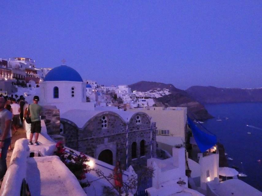 Oia Greece at night
