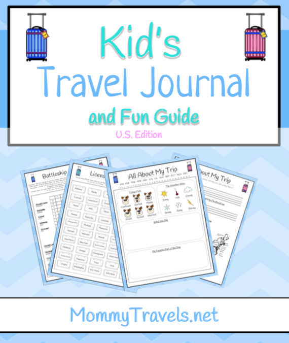 Printable travel journal for tweens and older kids