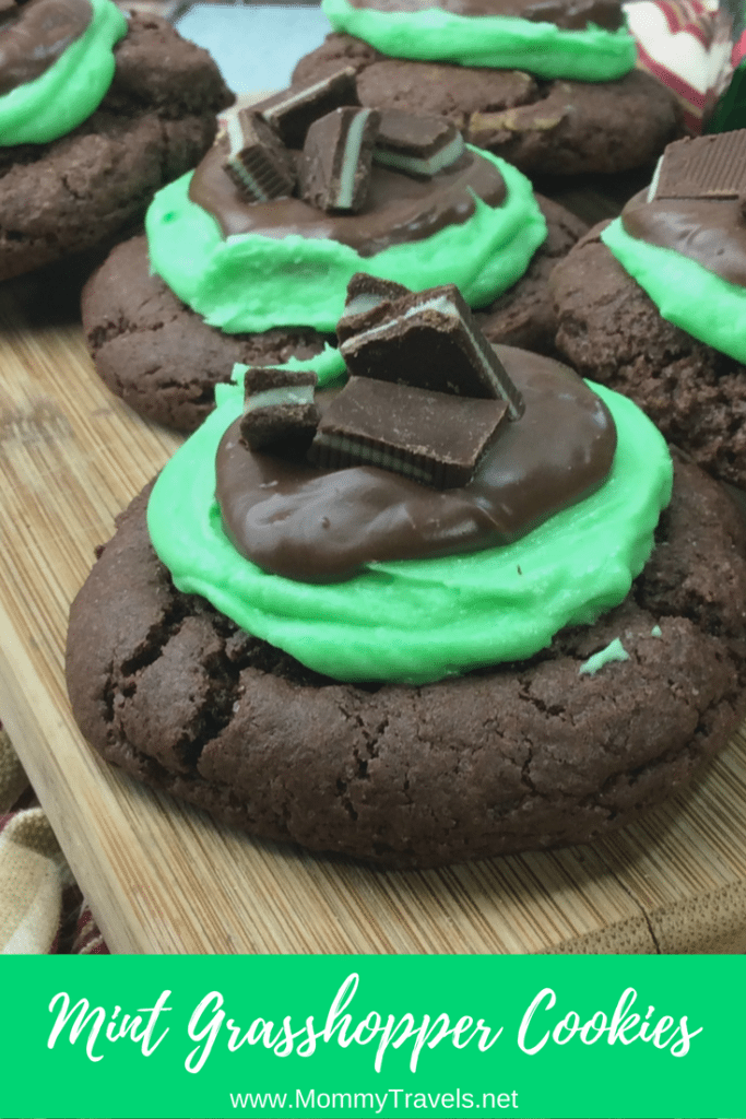 Mint grasshopper cookies