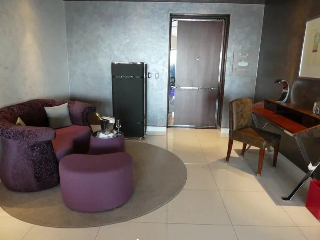 Hotel Mousai suite living room