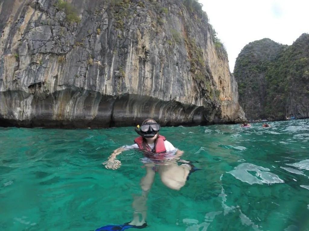Snorkeling at phi phi island